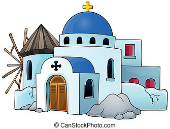 Greek theme image 5 - eps10 vector illustration.