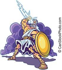 Greek Thunder God or Titan Mascot