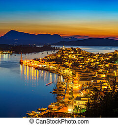 Poros at night, Greece
