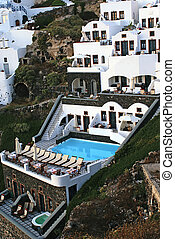 Greek  traditional architecture  in Santorini island, Greece