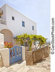 Greek traditional modern house