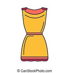 Greek tunic icon, cartoon style