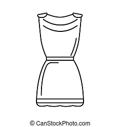 Greek tunic icon, outline style