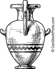 Greek vase. Hydria.