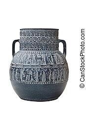 greek vase isolated on white