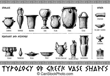 Greek vessel shapes. - Typology of Greek vase shapes....