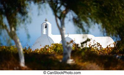 Greek white church