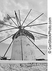 Greek windmill in Mykonos