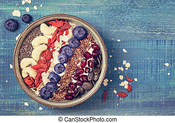 Greek yoghurt with superfoods