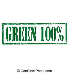 Green 100%-stamp