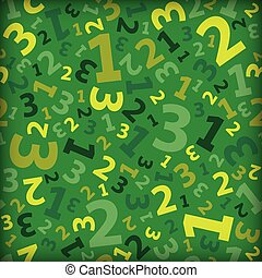 Green 123 number background seamless