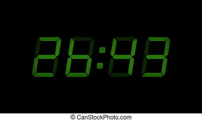 Green 30 Second Digital Countdown Display