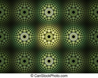 Green 3D background - Abstract fractal background. Computer...