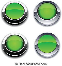 Green 3d buttons.