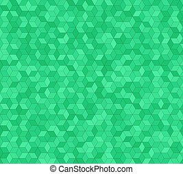 Green 3d cube mosaic pattern background design