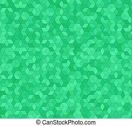 Green 3d cube mosaic pattern background design