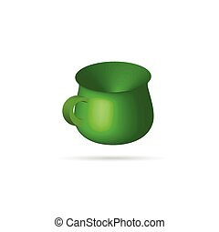 green 3D cup vector illustration