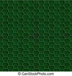 Green 3d Seamless Web Hexagon Pattern
