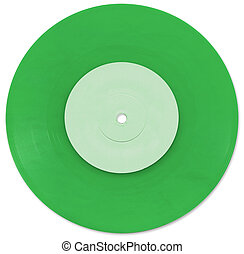 Green 7 inch Vinyl Single scanned in high resolution