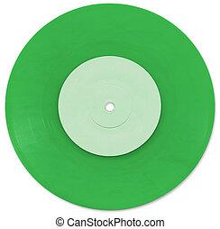 Green 7 inch Vinyl Single scanned in high resolution