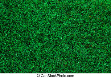 Green abrasive sponge texture background like grass