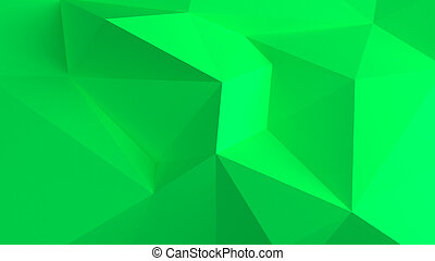 Green Abstract 3d background
