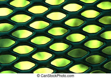 Green Abstract - Abstract spring colors observed through...