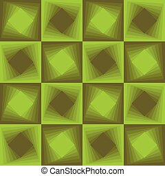 Green abstract background, checker patterns with blending square texture