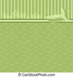 Green abstract background, Eco concept illustration.