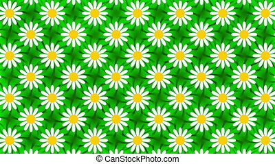 green abstract background, flower