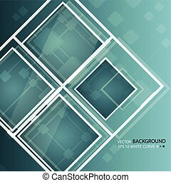 Green abstract background in techno style. Modern business...