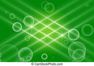 green abstract background, kaleidoscope light