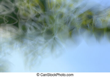 Green abstract background lines and angles blurred