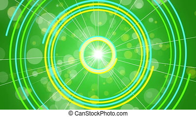 green abstract background, loop