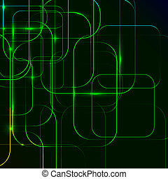 green Abstract background of digital technologies