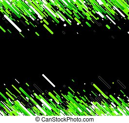 Green abstract background on black.