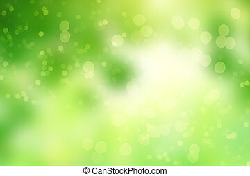 Green abstract background picture with bokeh lights