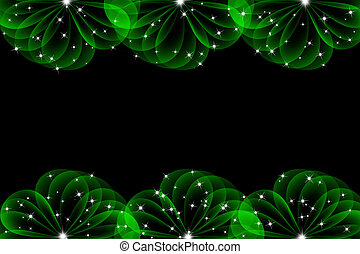 green abstract background with circle layers