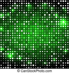 Green abstract background with circles dark