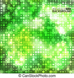 Green abstract background with circles