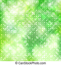 Green abstract background with diagonal circles