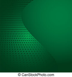 Green abstract background with dots, vector illustration