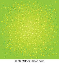 Green abstract background with stars