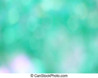 Green Abstract blured light bokeh lights rotation background