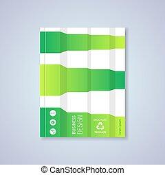 Green abstract brochure design template