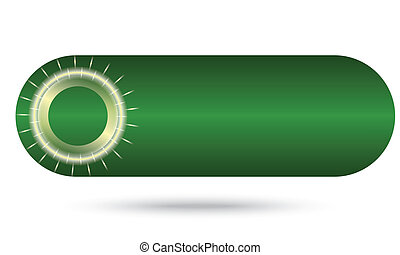 green abstract button