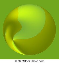 Green Abstract Candy Ball - 3D Drop Background