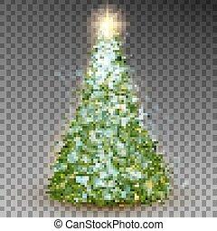 Green abstract Christmas tree. EPS 10 vector