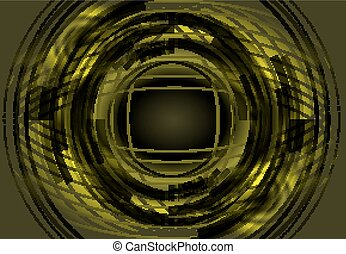 Green abstract circle background