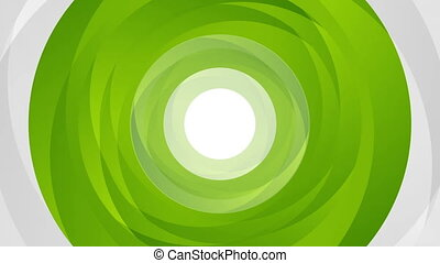 Green abstract circle shapes looping video animation